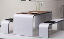 Bellezza Designmöbel – Tisch, Sideboard und Sitzbank