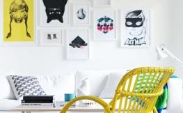 Die Wände mit Kunstkopien verschönern