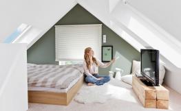 Eine Wohnung mit Dachschräge chic einrichten