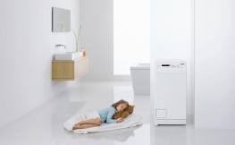 Waschmaschine ins Raumdesign vom Badezimmer integrieren