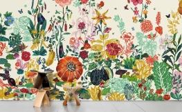 Blumen Tapete – très chic!