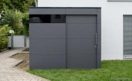 Moderne Design-Gartenhäuser und Balkonschränke in schicker Optik