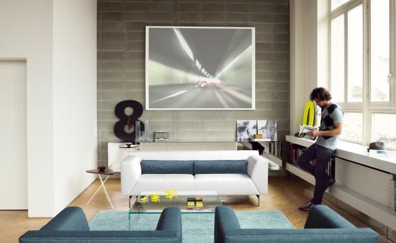 wohnen im loftstil. Black Bedroom Furniture Sets. Home Design Ideas