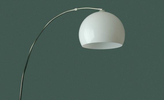 70er jahre vintage bogenlampe. Black Bedroom Furniture Sets. Home Design Ideas