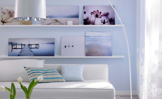 die eigene fotocollage auf leinwand. Black Bedroom Furniture Sets. Home Design Ideas