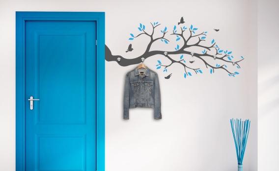 platzsparend und chic garderoben wandtattoos. Black Bedroom Furniture Sets. Home Design Ideas