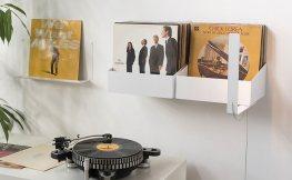 7 kreative Schallplattenregale für musikalische Dekoration