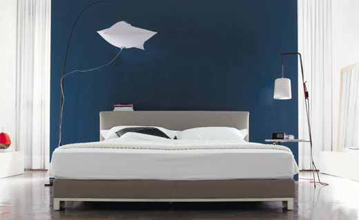 Blaue wandfarbe im schlafzimmer