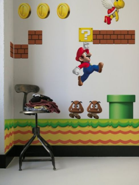 New Super Mario Wandsticker