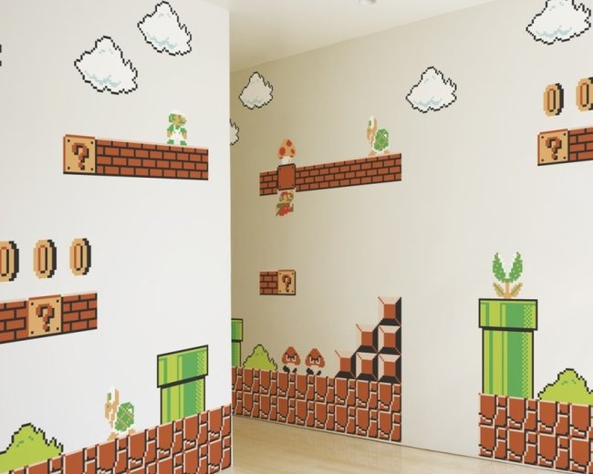 super mario tapete. Black Bedroom Furniture Sets. Home Design Ideas
