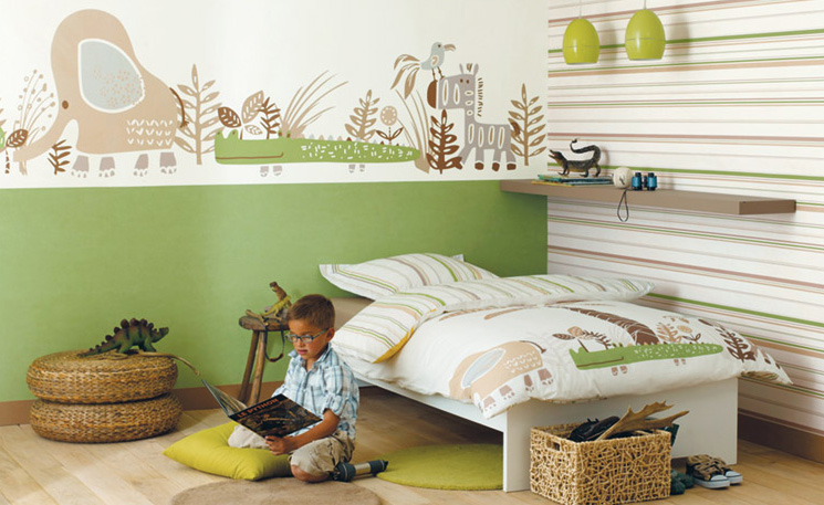 kinderzimmer tapete. Black Bedroom Furniture Sets. Home Design Ideas