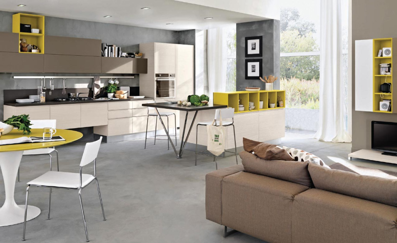 Moderne offene kuche