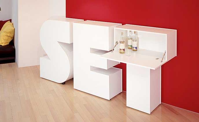 buchstabenm bel set 26. Black Bedroom Furniture Sets. Home Design Ideas