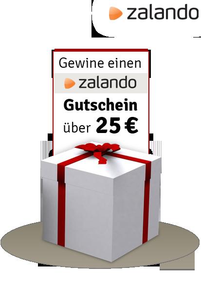 Einen Zalando® Gutschein im Wert von 25 Euro