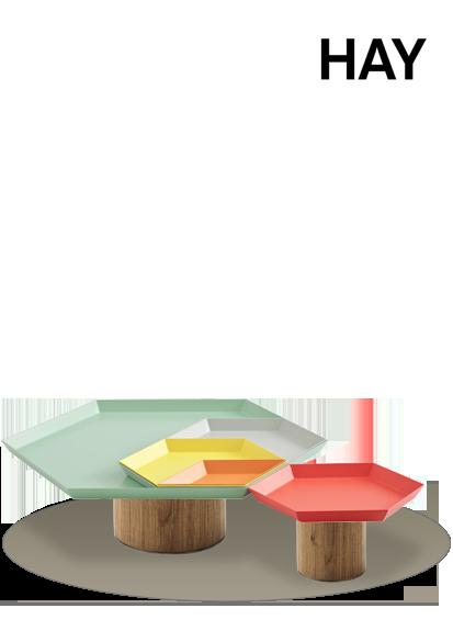 Ein HAY Tablett Kaleido XS in der Farbe mintgrün