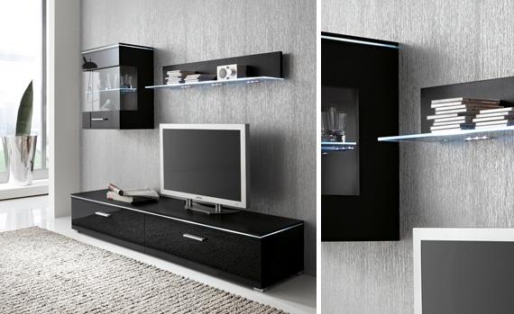 anbauw nde f r das wohnzimmer. Black Bedroom Furniture Sets. Home Design Ideas