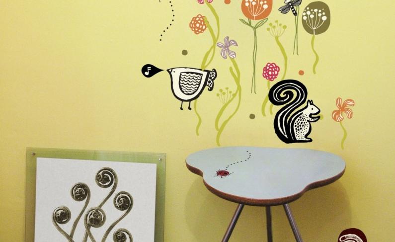 Leuchtende Kindertapeten : Wandmalerei mit Acrylfarben
