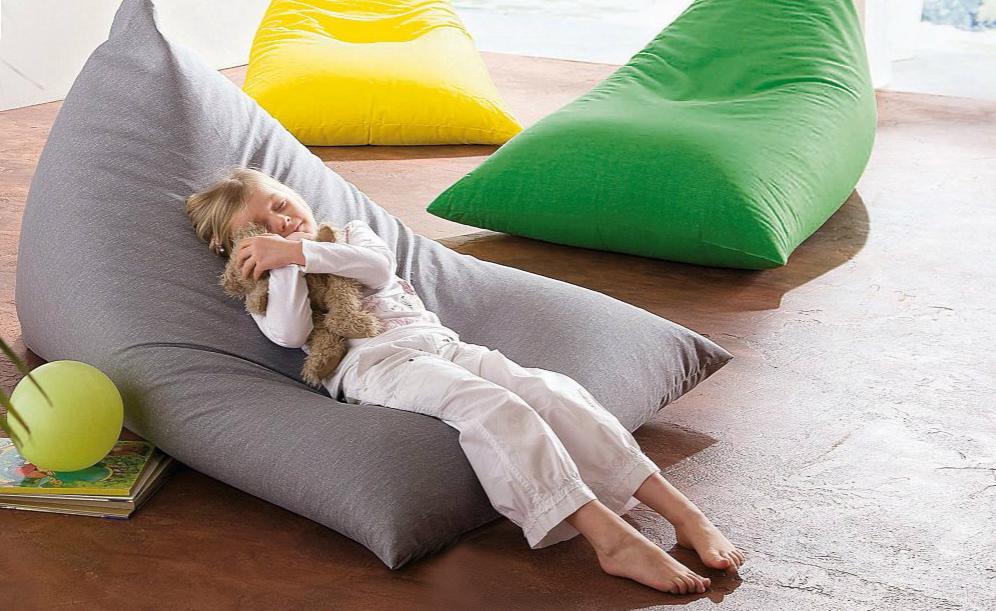 bunter sitzsack grijzemuren. Black Bedroom Furniture Sets. Home Design Ideas