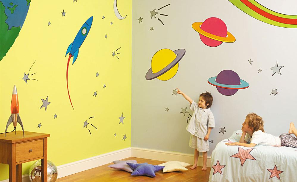 Wandmalerei mit acrylfarben for Zimmerwand farben