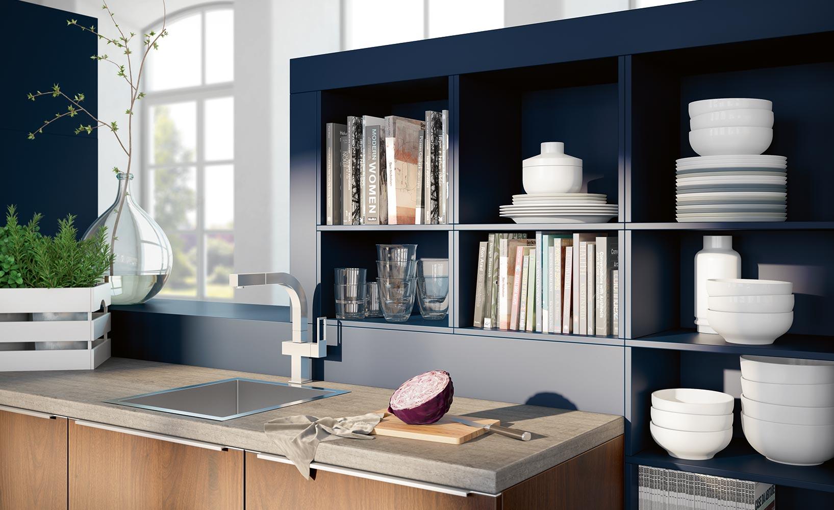 die designk che stilvolle funktionalit t und formreduzierung. Black Bedroom Furniture Sets. Home Design Ideas