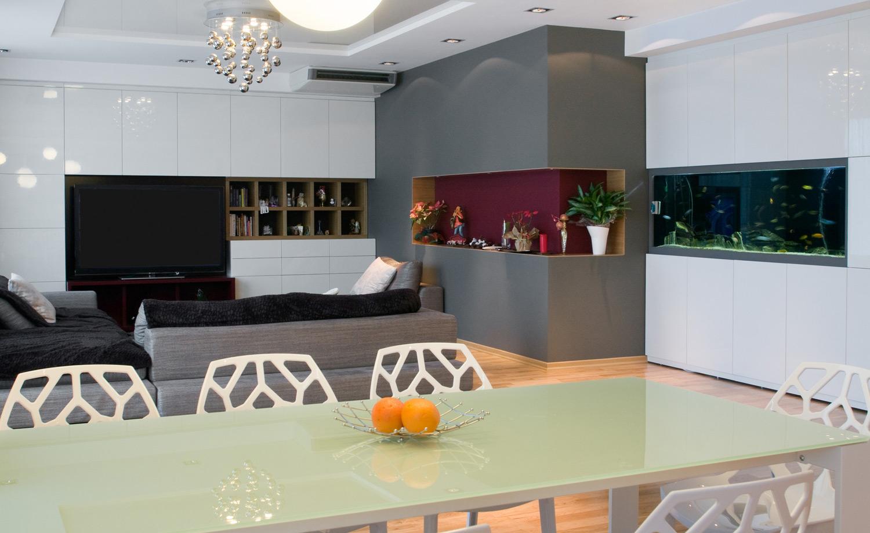 Aquarium im wohnzimmer integrieren wohn design - Aquarium wohnzimmer ...
