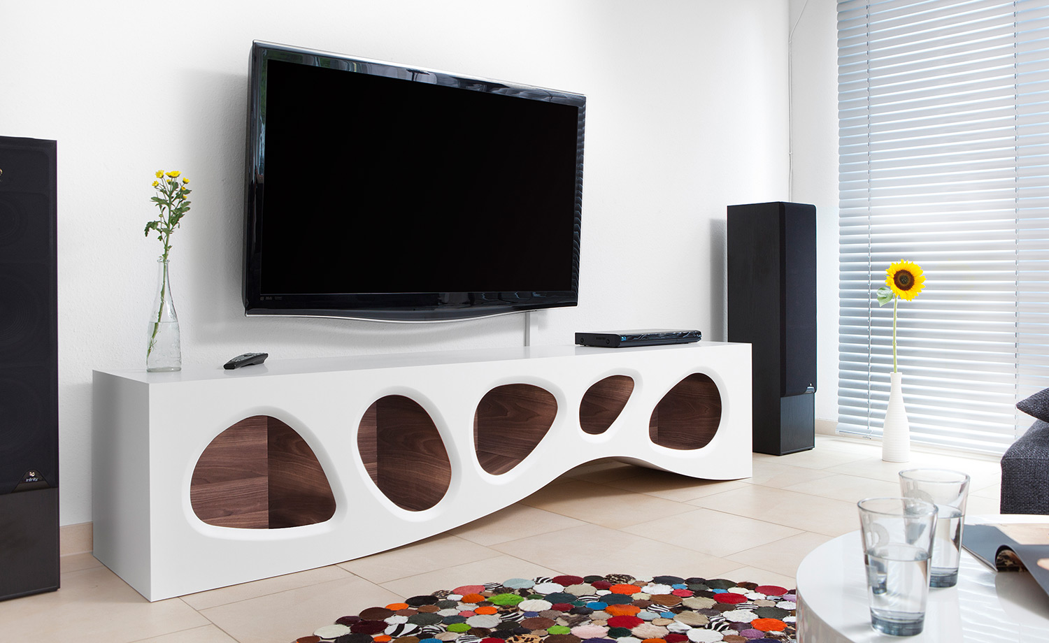 moderne tv m bel f r das wohnzimmer. Black Bedroom Furniture Sets. Home Design Ideas