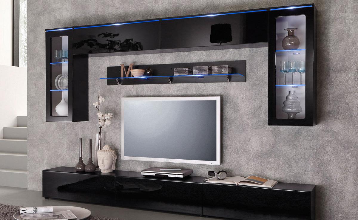 wohnwaende stylisch praktisch - Stylische Wohnwand