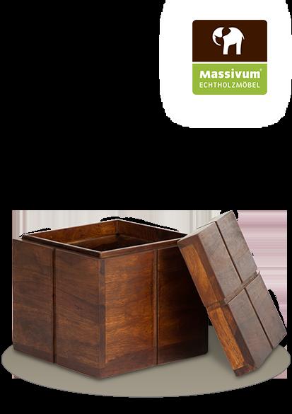 eine Box Monrovia aus Palisanderholz von massivum