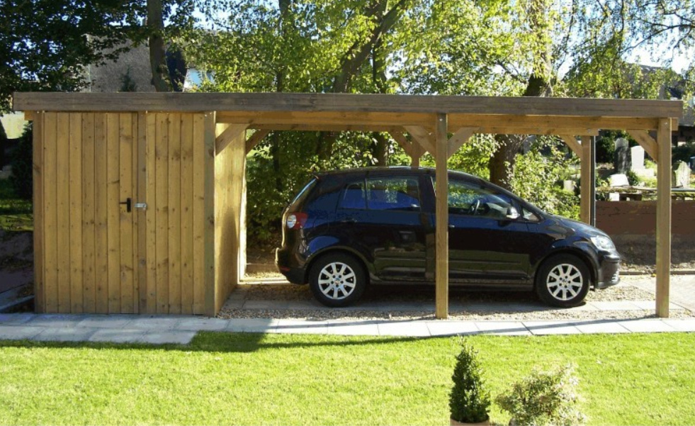 carports als g nstige alternative zur garage. Black Bedroom Furniture Sets. Home Design Ideas