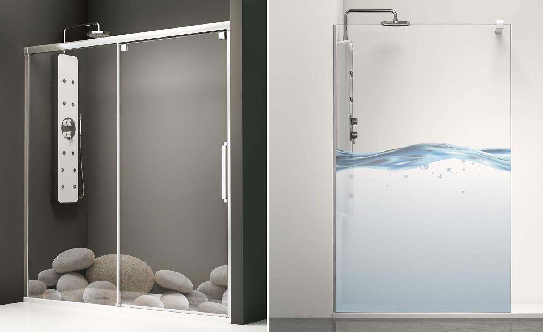 Einfache Dekoration Und Mobel Jetzt Wird Es Bunt Unter Der Dusche #21: Farbiges Duschwandglas