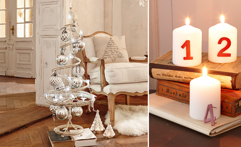 festliche weihnachtsdeko f r das wohnzimmer. Black Bedroom Furniture Sets. Home Design Ideas