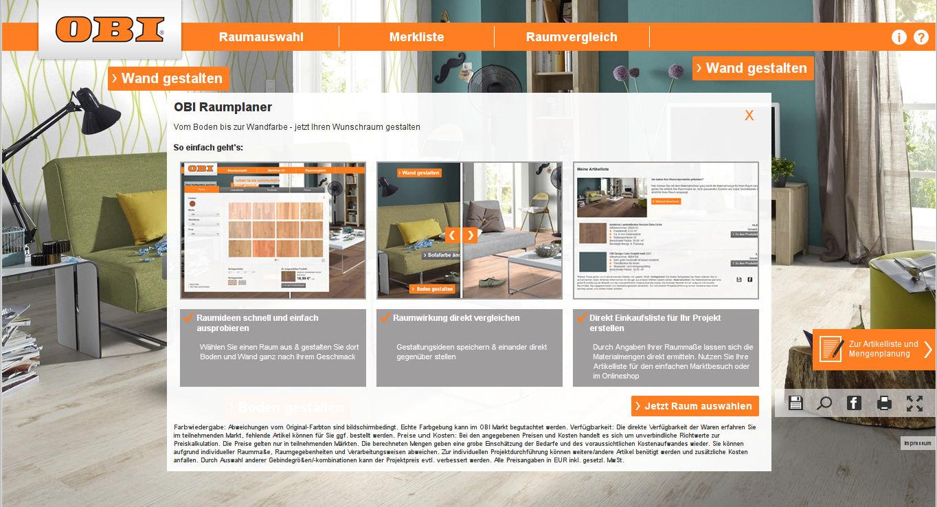 interaktiver online raumplaner von obi. Black Bedroom Furniture Sets. Home Design Ideas