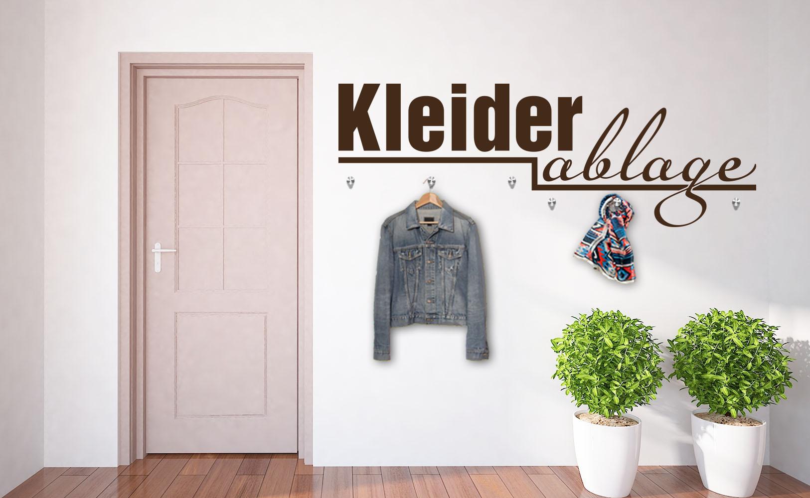 platzsparend und chic - garderoben wandtattoos - Kleiderablage Im Schlafzimmer Kreative Wohnideen