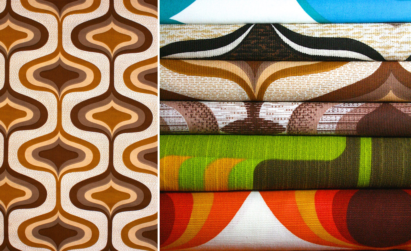 70er jahre retro tapeten ideen. Black Bedroom Furniture Sets. Home Design Ideas