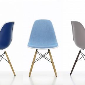 Vitra Stuhl Eames Plastic Chair Gruppe 3 Blau Braun