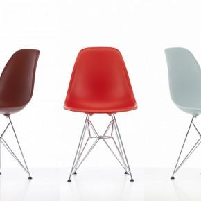 Vitra Stuhl Eames Plastic Chair Gruppe 3 Rot