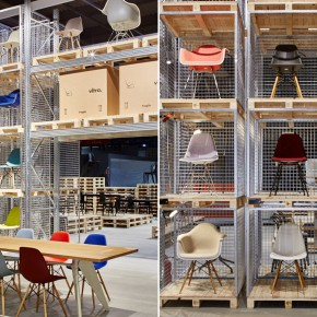 Vitra Stuhl Eames Plastic Chair Mailand Messe