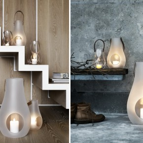 Design with Light Windlicht Set Holmegaard Treppe Schuhe