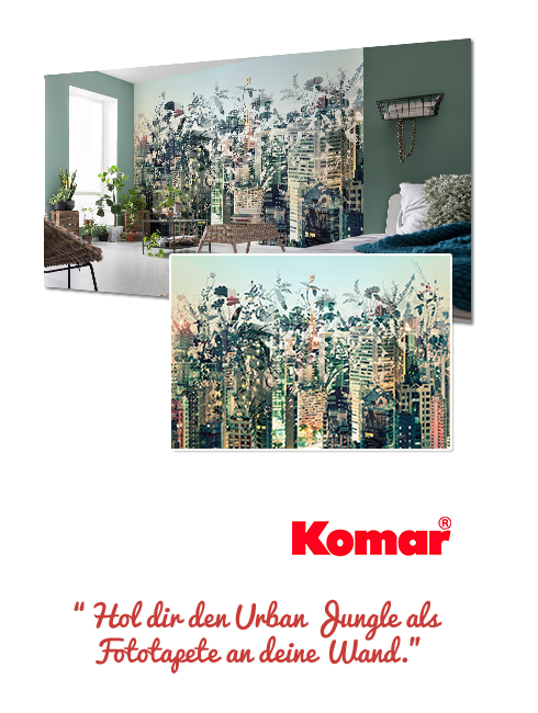 eine Fototapete Urban Jungle von Komar