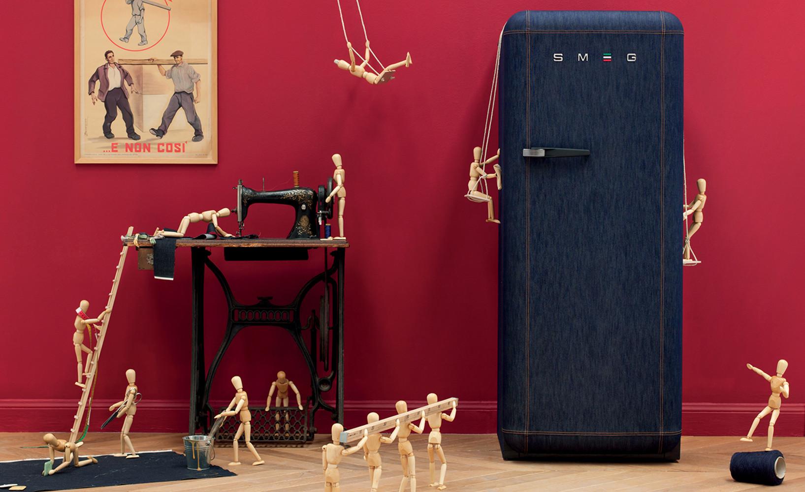 Energie sparen Kühlschrank rot