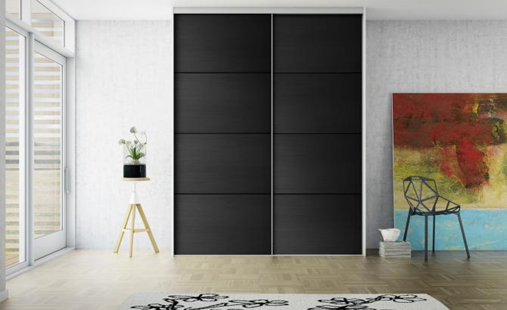 kleiderschr nke mit schiebet ren. Black Bedroom Furniture Sets. Home Design Ideas