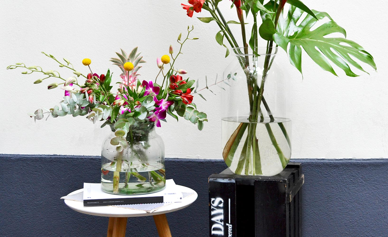 Blumen als Dekoelement