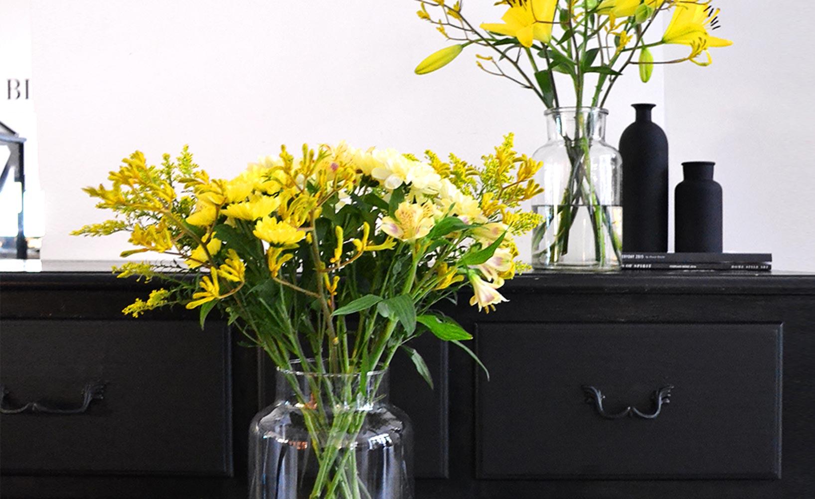 Blumen passend zur Einrichtung
