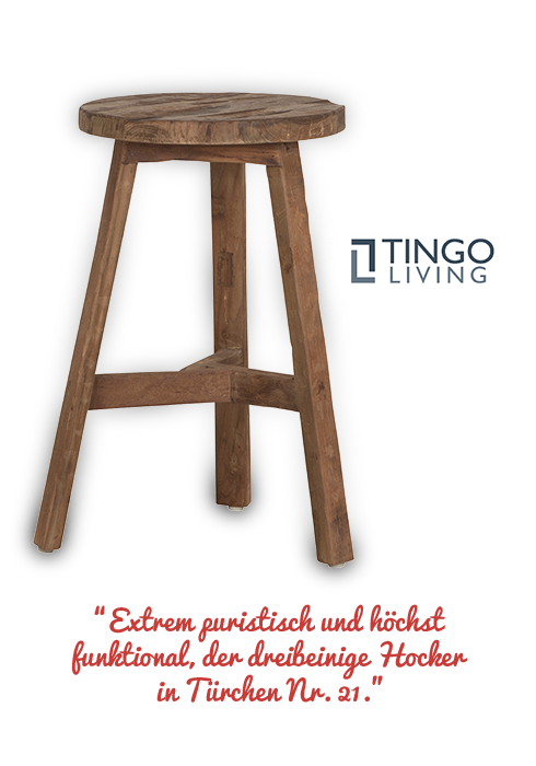 den Holzhocker SOLO von Tingo Living