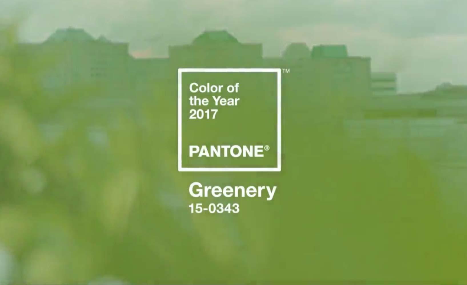 Trendfarbe des Jahres 2017 Greenery