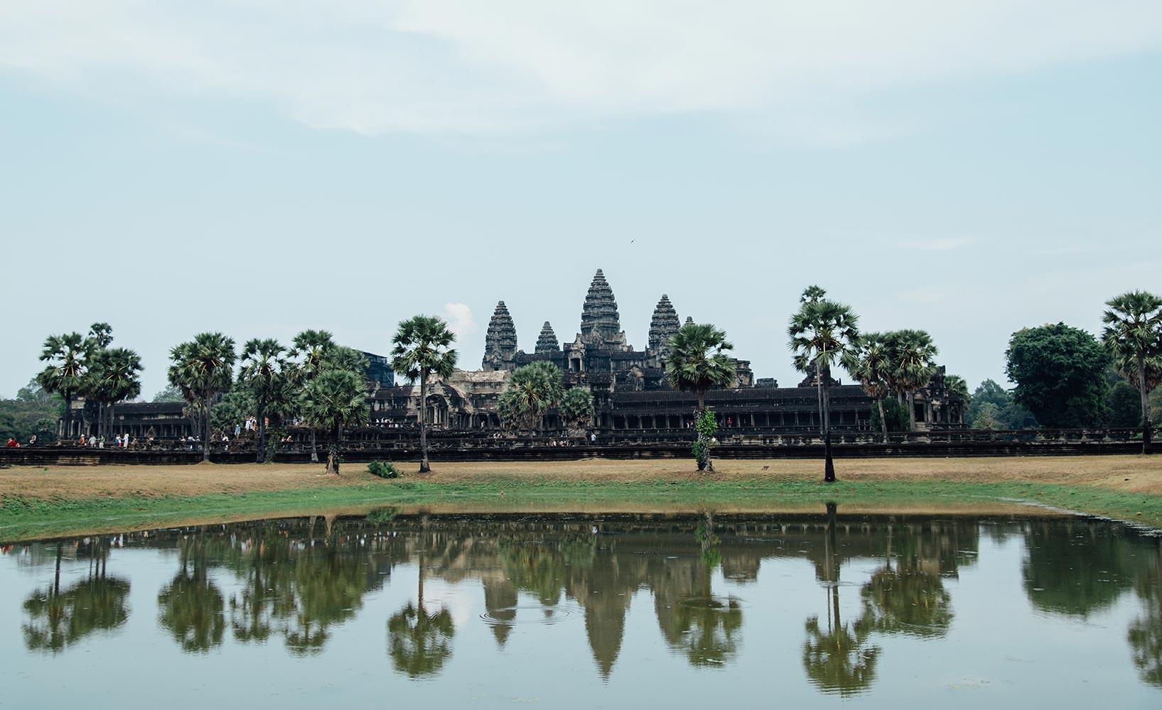 Fesselnd Tempelanlage Angkor Wat