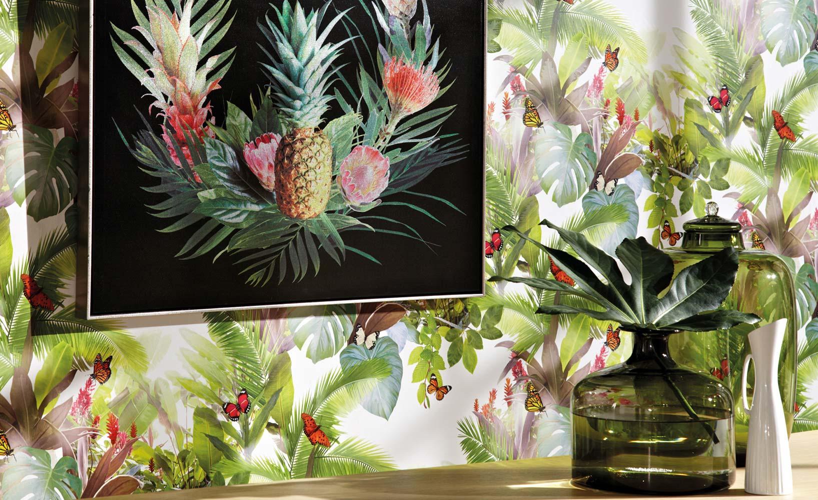 Tropische Wandgestaltung
