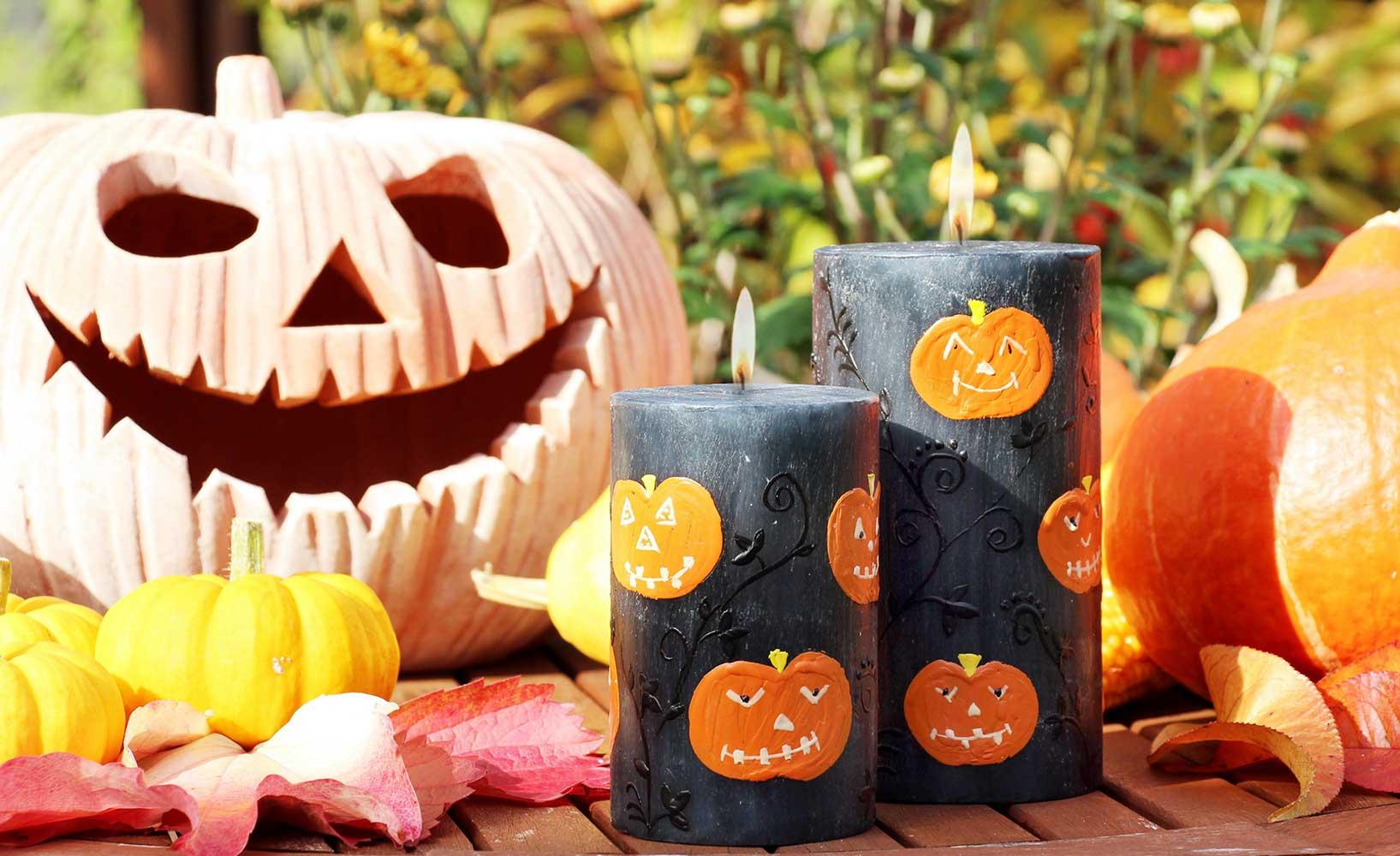 Herbstdeko zu Halloween