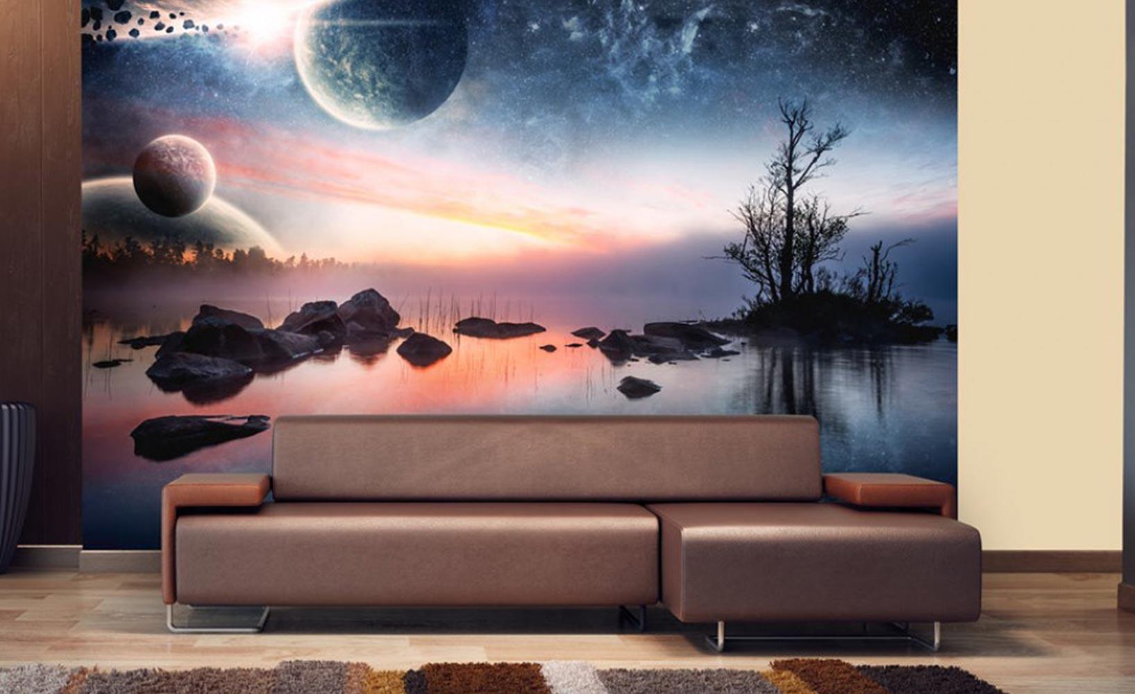 mit fototapeten ganz einfach stilvoll dekorieren. Black Bedroom Furniture Sets. Home Design Ideas