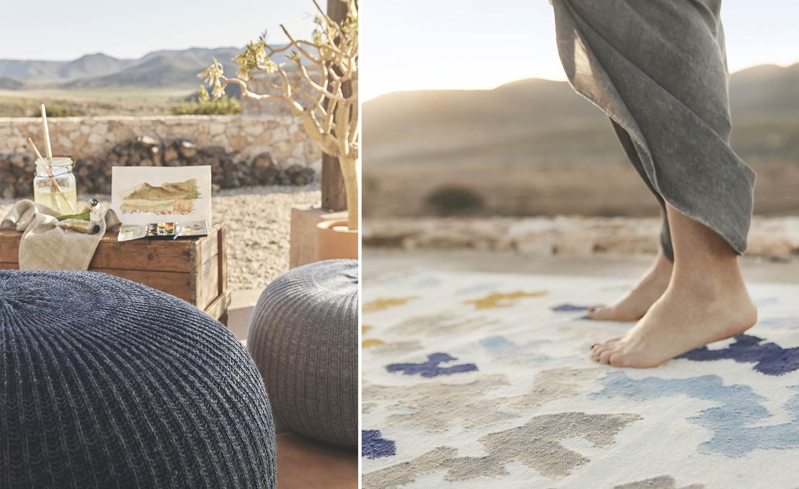 Handgewebte Wollteppiche in exotischen Designs von IKEA